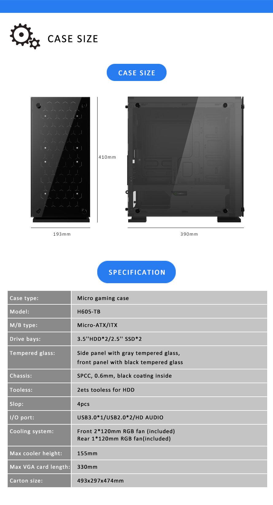 Корпус GameMax H605-TB
